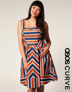 Striped Dress - ASOS Curve