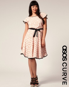 Heart print dress - ASOS Curve