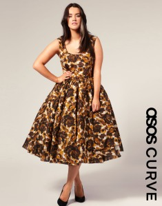 Pretty 50s style dress from ASOS Curve