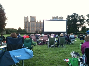 The outdoor screen at Hardwick Hall