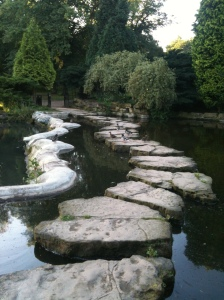 Stepping stones on Highfields Park
