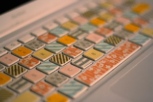 DIY Washi Tape Keyboard tutorial from Her New Leaf