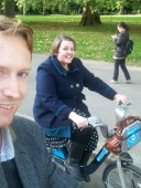 Cycling around Kensington Gardens