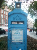 Police phone box in Grosvenor Square