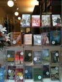 First editions in a bookshop window