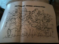 Colour in a Zombie apocolypse in the Guardian weekend magazine