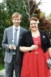 Me and Nial dressed up for the wedding