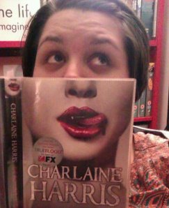 Me being silly with a Charlaine Harris book