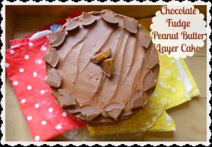 Chocolate fudge peanut butter cup cake