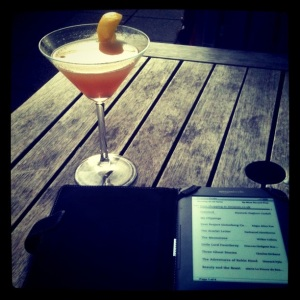 Kindle and a cocktail