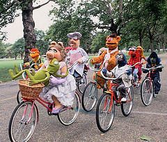 Muppets on bikes!