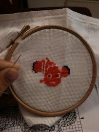 Work in progress Finding Nemo cross stitch