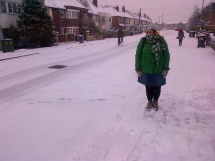 Emiliahearts enjoying the snow!