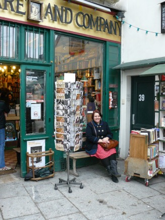 Me outside Shakespeare & Co bookstore
