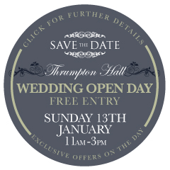 Save The Date Wedding Open Day at Thrumpton Hall