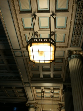 Amazing art deco light fittings in the Council House ballroom