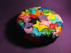 Fondant Stars Birthday Cake from bakearama