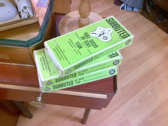 Spotted some cool retro Subbuteo sets in a charity shop in Beeston. I used to play Subbuteo with my Dad all the time