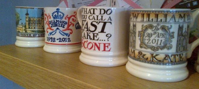 My expanded Emma Bridgewater mug collection