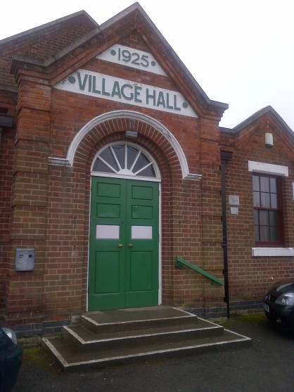 Very pretty front of Burton Joyce village hall