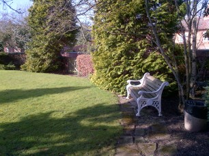 Little garden in front of the village hall at Cropwell Butler