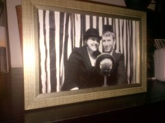 We framed some silly pictures we had taken in a vintage photobooth at our friends wedding