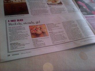 My red velvet cupcakes were in the Nottingham Post Weekend magazine - woo!