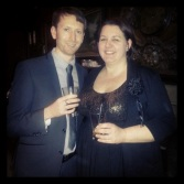 Nial and me at our friend's wedding reception at Thrumpton Hall