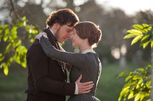 Mia Wasikowska and Michael Fassbender in Jane Eyre