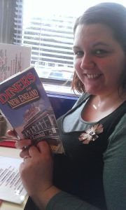 Researching our upcoming honeymoon in our local American-style diner in Swadlincote, Derbyshire, England