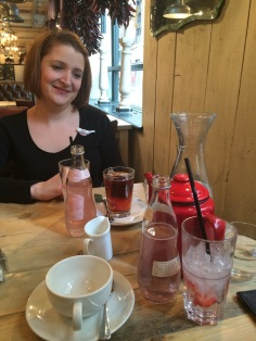 Jess and our MANY drinks in Bill's