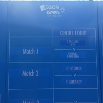 Order of play for the AEGON Nottingham Open