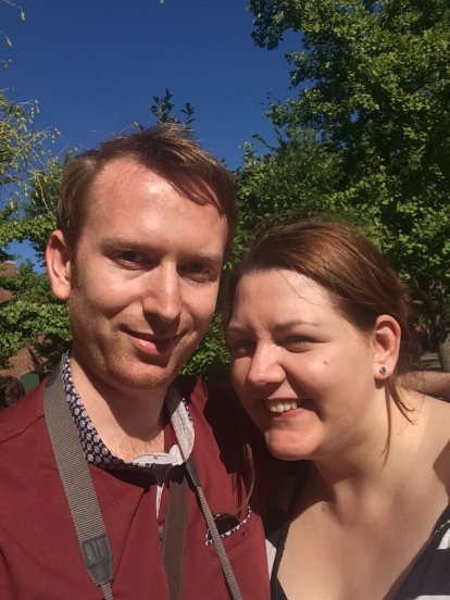 Me and Nial enjoying the sunshine