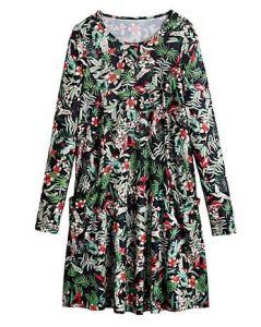 Botanical print jersey swing dress - Simply Be