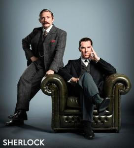 New image of Martin Freeman and Benedict Cumberbatch in the Sherlock special