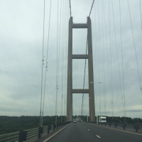 Driving over the Humber bridge