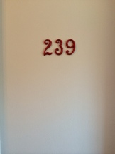 Our room. I love the numbers