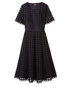 Lovedrobe crochet lace skater dress - Simply Be