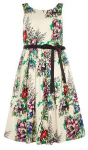 Scarlett And Jo Ivory Floral Prom Dress - Evans